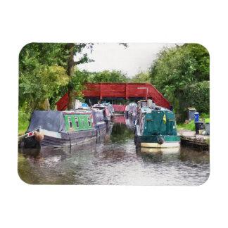 CANAL BOATS UK VINYL MAGNET