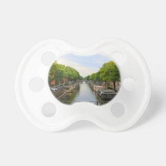 Canal, bridges, bikes, boats, Amsterdam, Holland Dummy