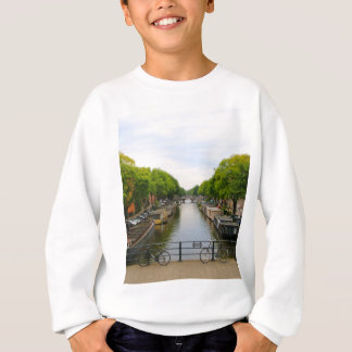 Canal, bridges, bikes, boats, Amsterdam, Holland Sweatshirt