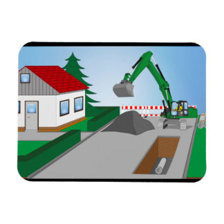 Canal construction place magnet