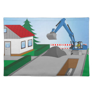 Canal construction place placemats