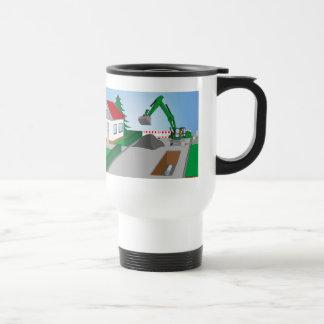 Canal construction place travel mug