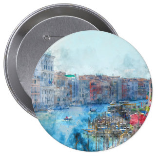 Canal Grande in Venice Italy 10 Cm Round Badge