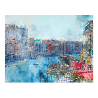 Canal Grande in Venice Italy Postcard