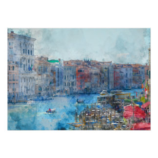 Canal Grande in Venice Italy Poster