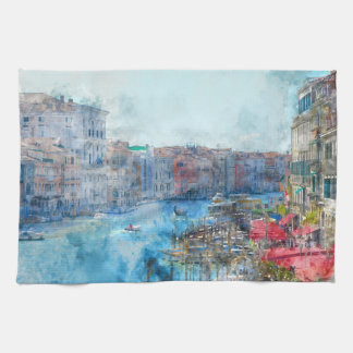 Canal Grande in Venice Italy Tea Towel
