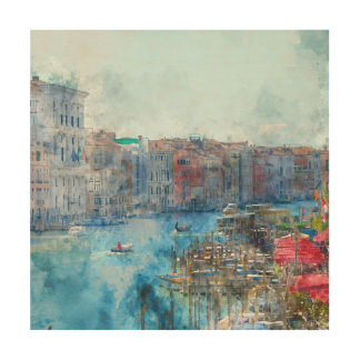 Canal Grande in Venice Italy Wood Prints