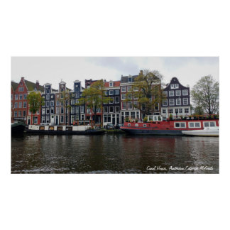 Canal Houses, Amsterdam, Netherlands Poster