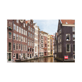 Canal Houses in Amsterdam Canvas Print