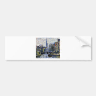 Canal in Amsterdam by Claude Monet Bumper Sticker