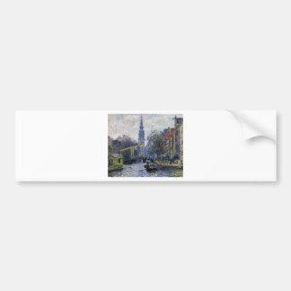 Canal in Amsterdam by Claude Monet Bumper Sticker