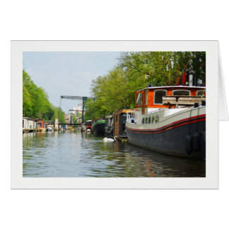 Canal in Amsterdam Card