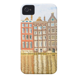 Canal in Amsterdam iPhone 4 Case-Mate Cases