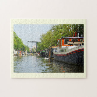 Canal in Amsterdam Jigsaw Puzzle