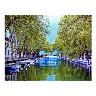 Canal in Annecy France Postcard