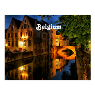 Canal in Belgium Postcard