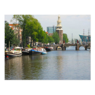 Canal in central Amsterdam Postcard