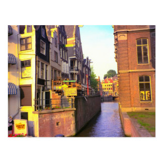 Canal in old Amsterdam Postcard