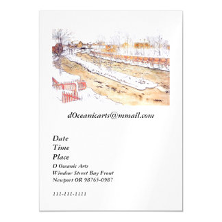 Canal in Snow Timber Chute Magnetic Card