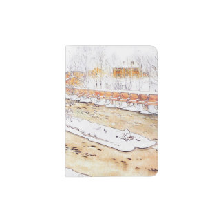 Canal in Snow Timber Chute Passport Holder