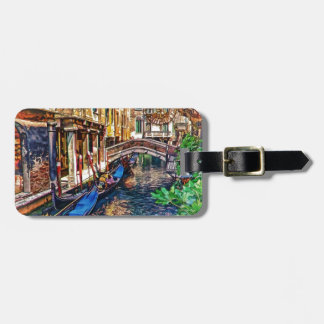 Canal in Venice Italy by Shawna Mac Luggage Tag