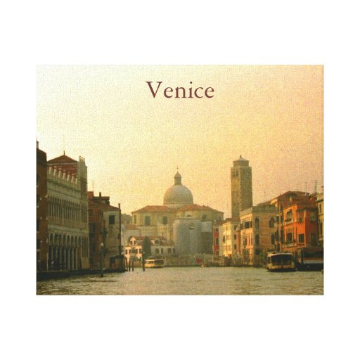 Canal of Venice Wall Art Gallery Wrap Canvas
