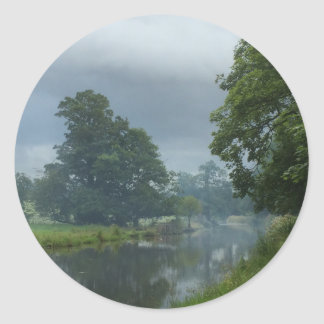 Canal Reflections Round Sticker