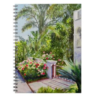 Canal Rose Garden Spiral Notebook