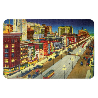 Canal Street at Night, New Orleans, Louisiana Rectangle Magnet
