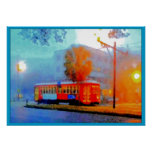 Canal Streetcar, Smudges in the Fog Print