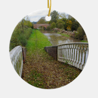Canal Tow Path in Autumn Ornament