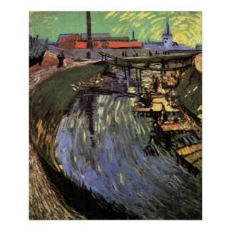 Canal with Women Washing by Vincent van Gogh Poster