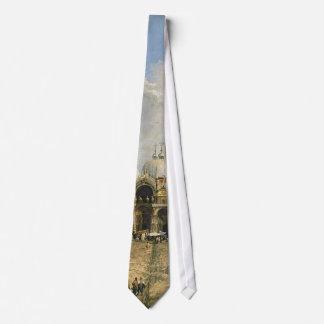 Canaletto Piazza San Marco Fine Vintage Tie