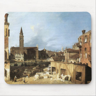 Canaletto,The Stonemason's Yard. Mousepad