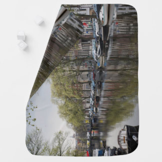 Canals in Amsterdam, Holland Baby Blanket
