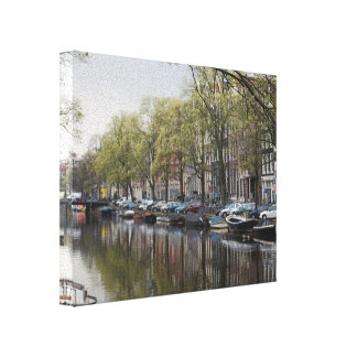 Canals in Amsterdam, Holland Canvas Print