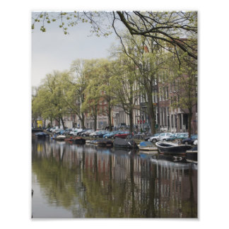 Canals in Amsterdam, Holland Photo Art