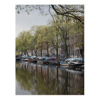 Canals in Amsterdam, Holland Postcard