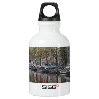 Canals in Amsterdam, Holland Water Bottle