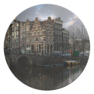 Canals in Amsterdam Plate