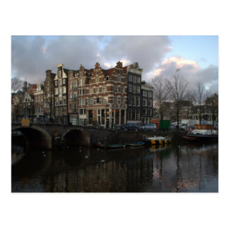 Canals in Amsterdam Postcard