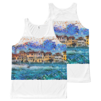 Canals in Venice All-Over Print Singlet