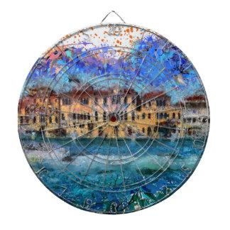 Canals in Venice Dartboard