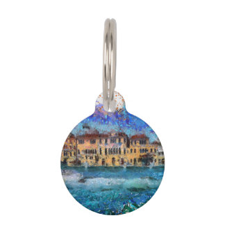 Canals in Venice Pet ID Tag