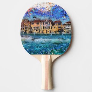 Canals in Venice Ping Pong Paddle