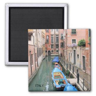 CANALS OF VENICE,  ITALY SQUARE MAGNET