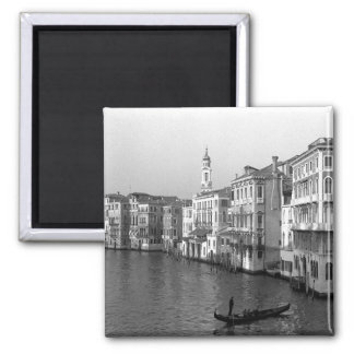 Canals of Venice Italy Square Magnet