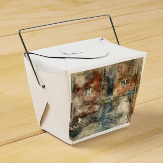 Canals of Venice Italy Watercolor Favour Box