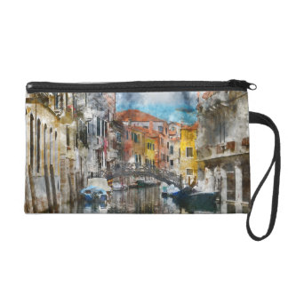 Canals of Venice Italy Watercolor Wristlet
