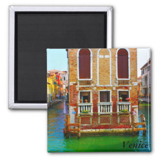 Canals  of Venice, Venice Square Magnet